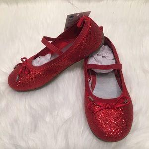 OshKosh B'Gosh Sparkly Red Ballerina Shoes